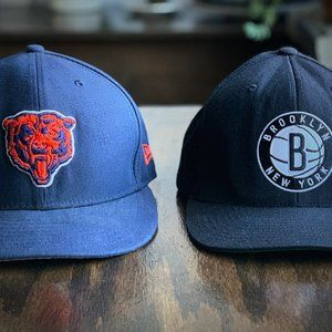 Other - Chicago Bears & Brooklyn Nets set of snapback hats